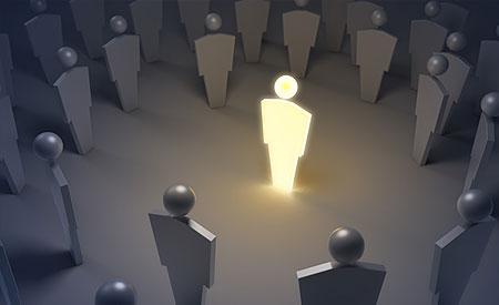 lichtgevend mannetje in het duister